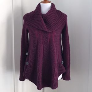 Anthro Angel of the North Purple Poncho Sweater